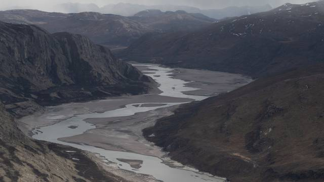 FILE PHOTO: Areas of Greenland are seen from an aerial helicopter tour