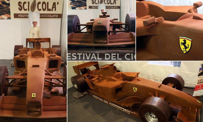 Slatka jurilica: Schumacherov Ferrari napravio je od čokolade