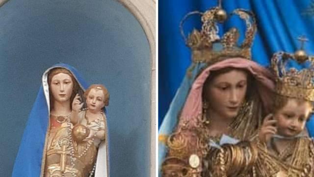 Ukrali pozlaćene krune s glava Gospe i Isusa u crkvi u Zadru
