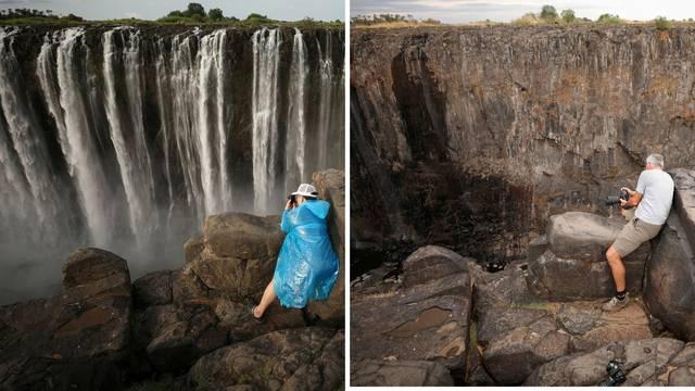 Presušili Viktorijini slapovi: Do sada se ovo nije dogodilo...