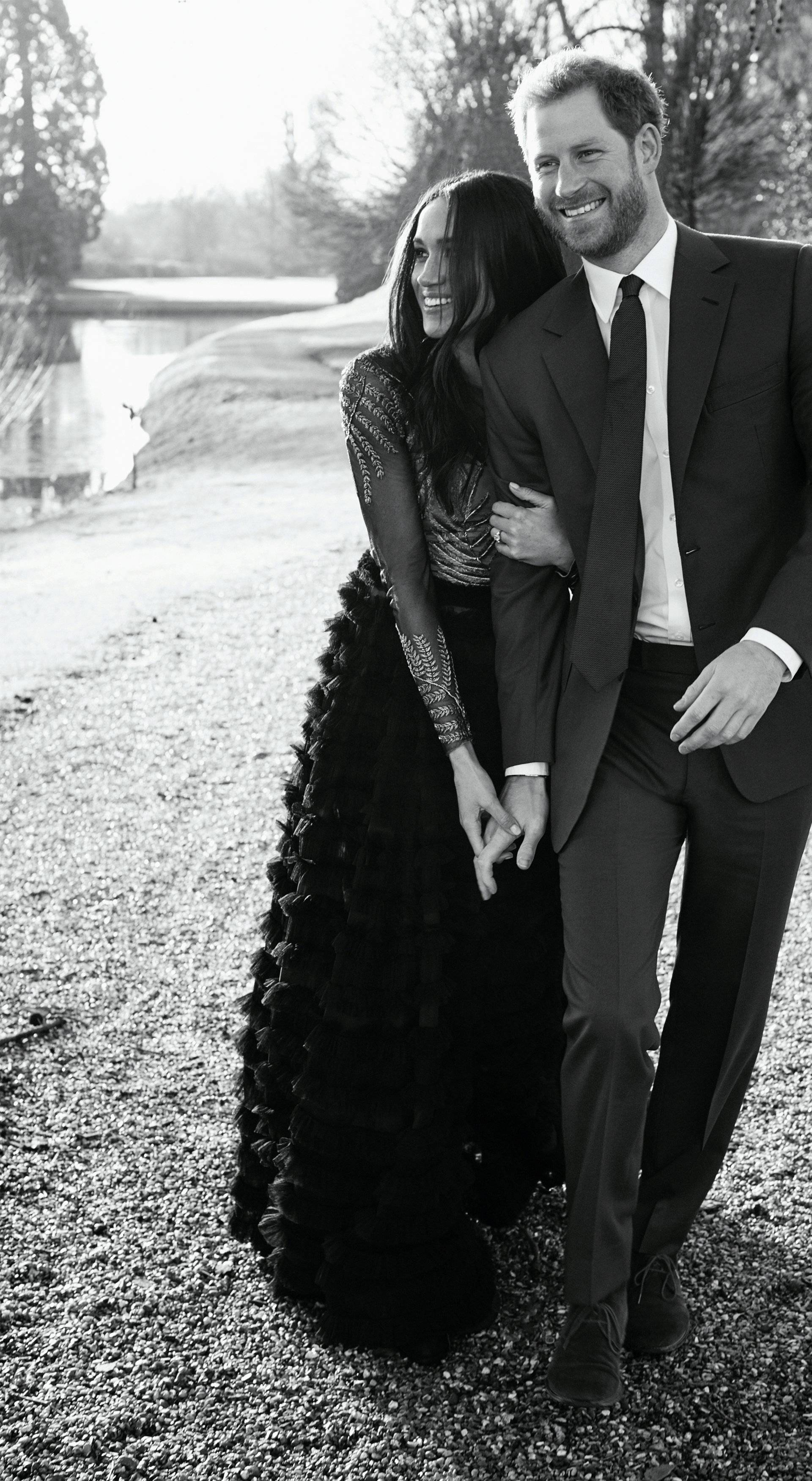 FILE PHOTO: An official engagement photo released by Kensington Palace of Prince Harry and Meghan Markle taken by photographer Alexi Lubomirski, at Frogmore House in Windsor