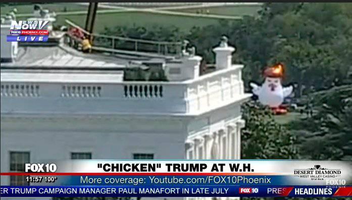 Piletom na napuhavanje rugaju se Trumpu ispred Bijele kuće