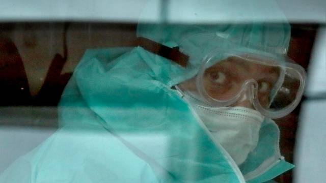 Temporary medical facility for COVID-19 patients at Moscow's VDNKh