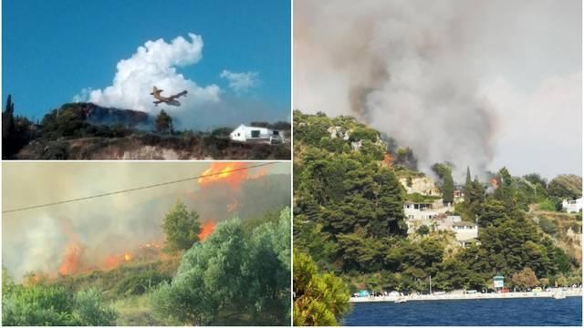 Istraga u Splitu: Sumnja se da je požar na Marjanu podmetnut