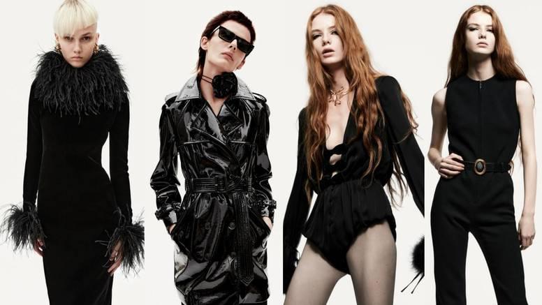 Saint Laurent donosi kolekciju u znaku crne, perja i uskih odijela