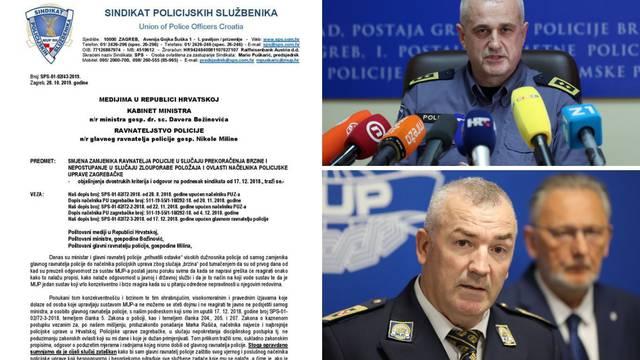 Sindikat sad proziva ravnatelja  zbog šefa zagrebačke policije