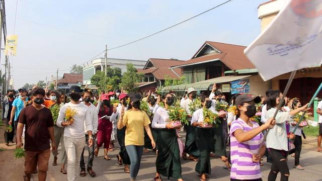 Protest against the military coup in Dawei