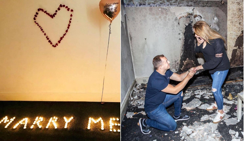 Priredio je savršenu romantičnu prošnju - i tako spalio cijeli stan