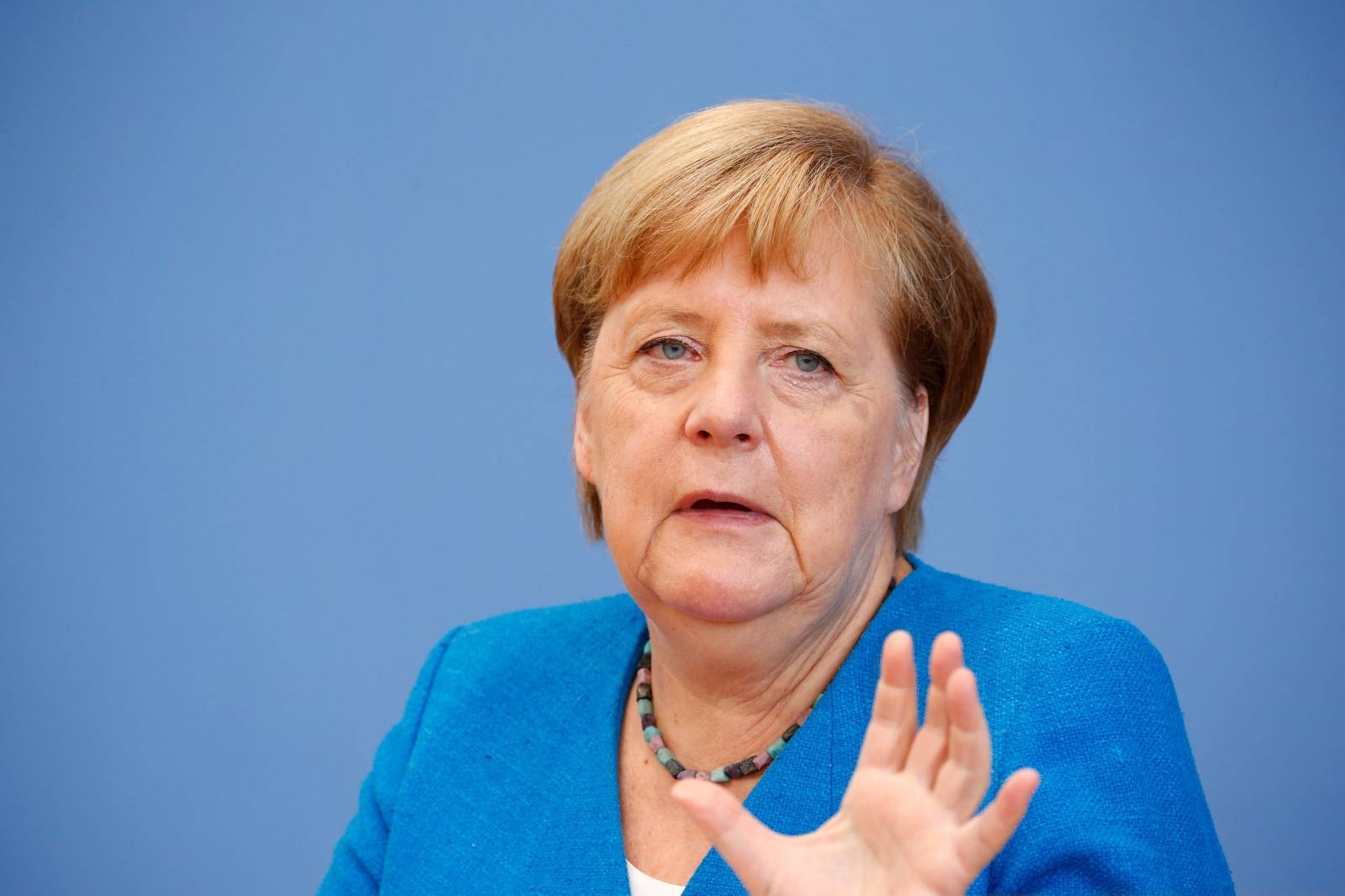 Traditional summer press conference with Chancellor Merkel