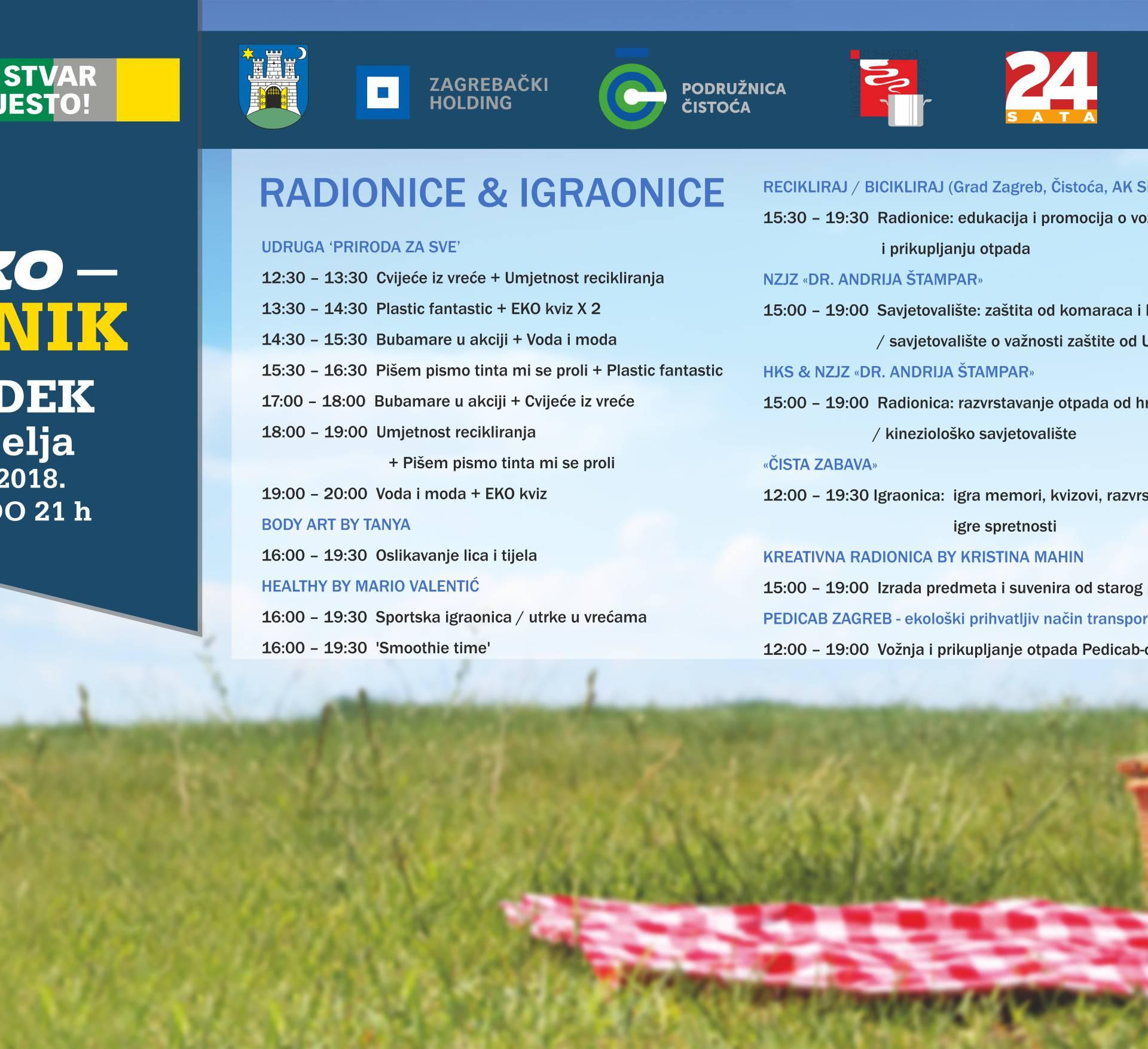 Dođite u nedjelju na najbolji Eko piknik u Zagrebu