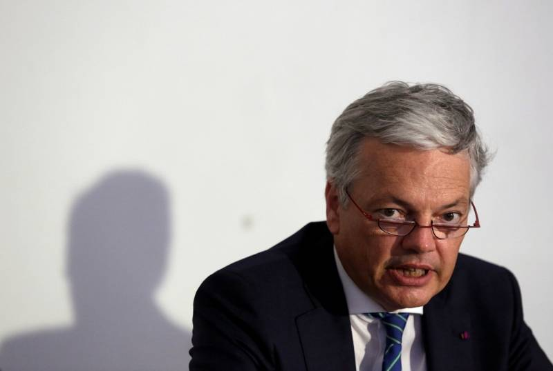 Belgium's Minister of Foreign Affairs Didier Reynders speaks during a news conference in Havana