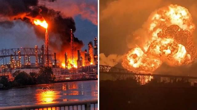 Ogromna eksplozija u rafineriji: Vatrogasci satima gasili požar