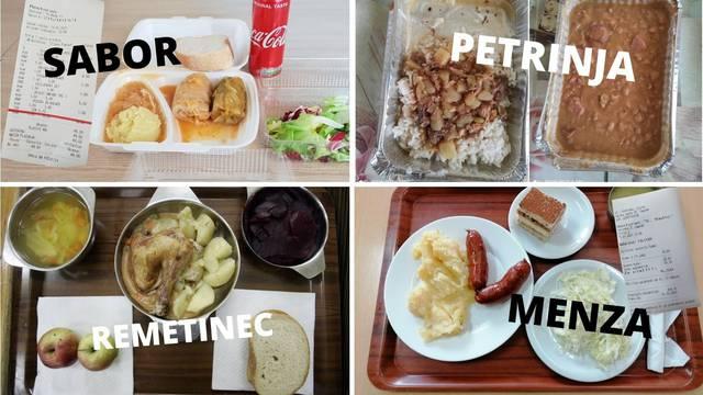 Ovo su ručkovi u Saboru, menzi, Petrinji i remetinečkom zatvoru