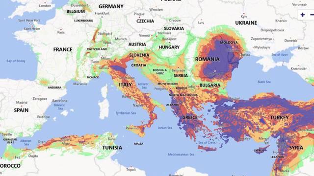 Objavljena globalna karta rizika od potresa, na njoj je i Hrvatska