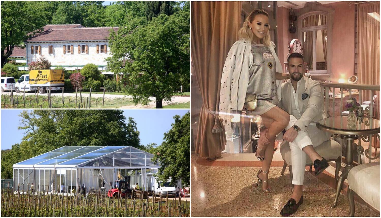 Sve je spremno za svadbu Maje Šuput: Ukrasili imanje u Istri