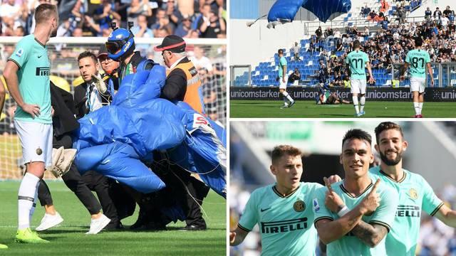 Perdonate! Padobranac sletio na teren u teškoj pobjedi Intera