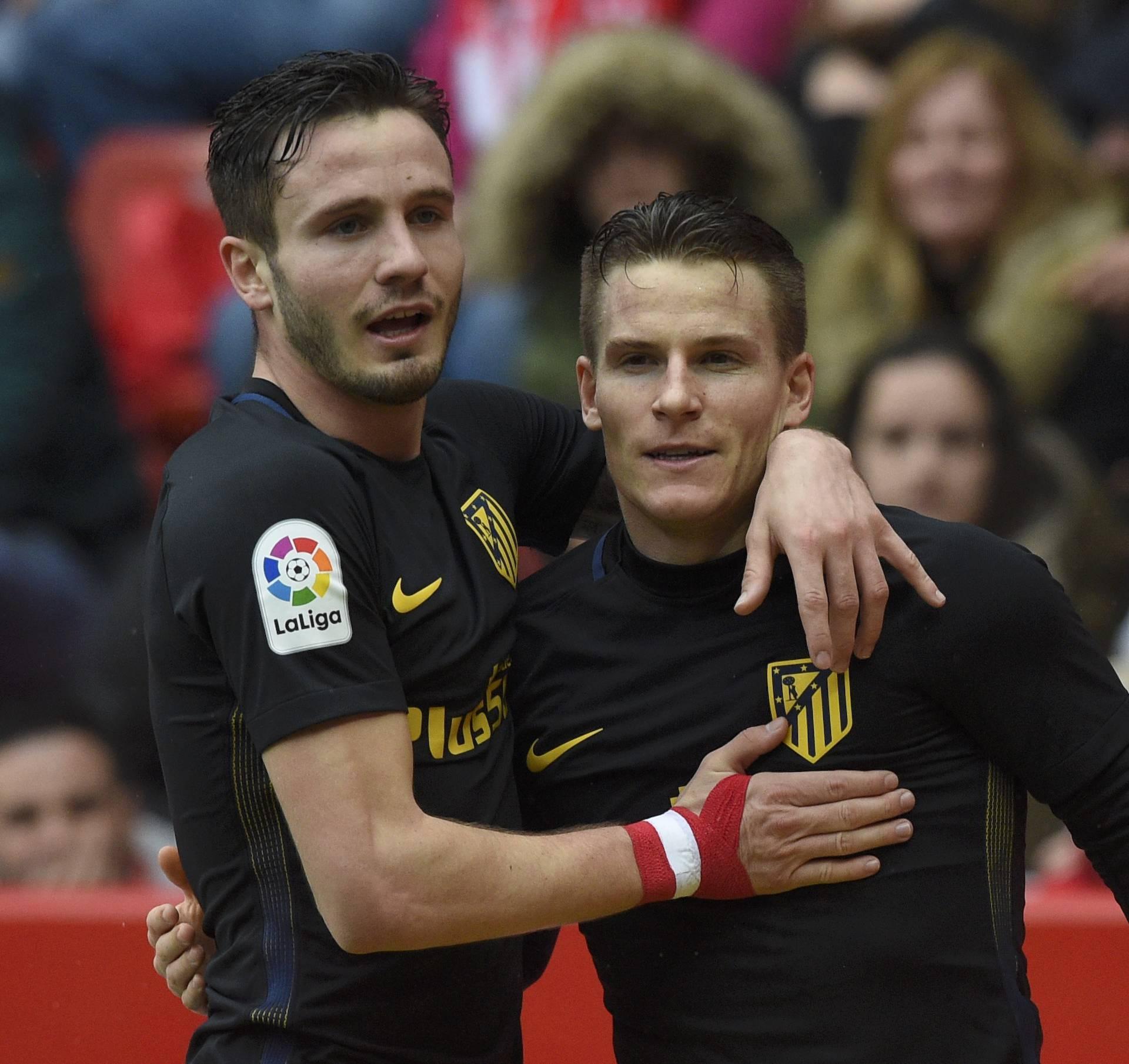 Football Soccer - Sporting Gijon  v Atletico Madrid - Spanish La Liga Santander