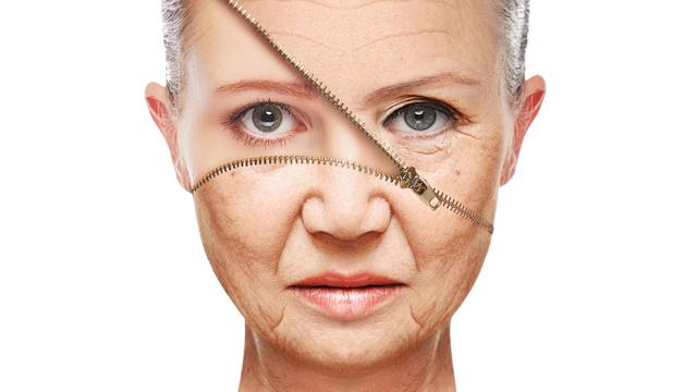 concept skin aging. anti-aging procedures, rejuvenation, lifting