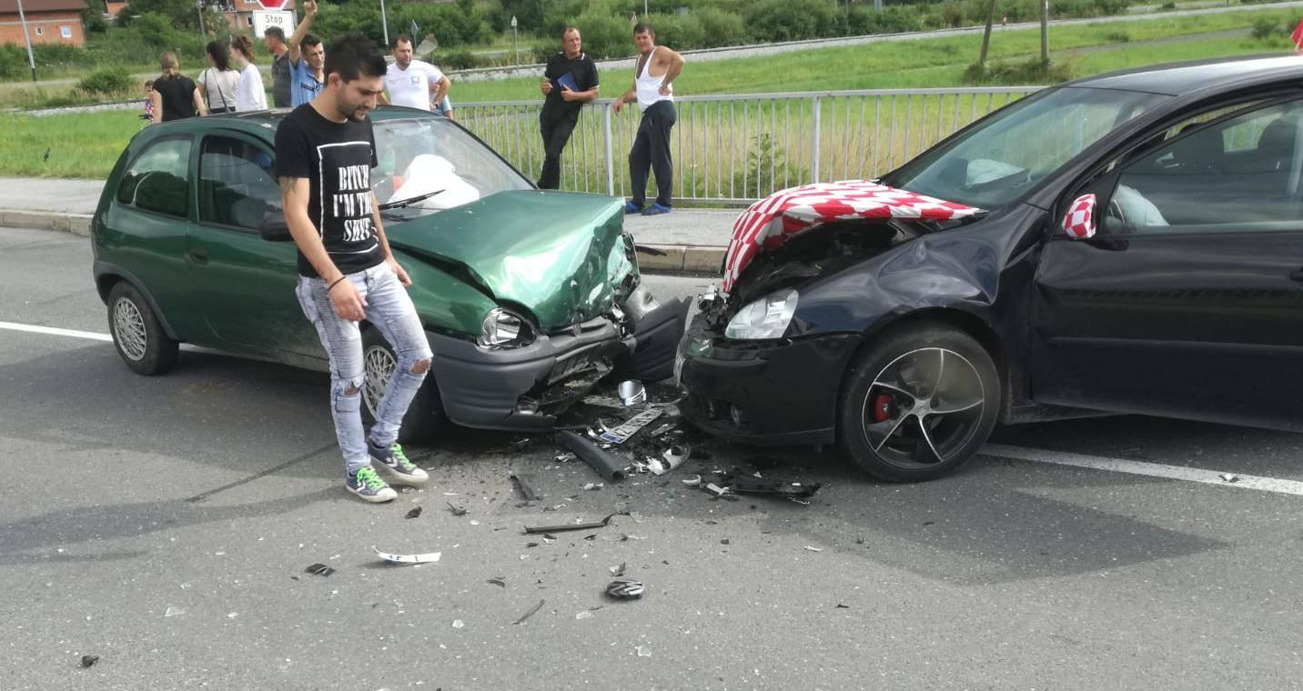 Sudar u Lepoglavi: Ozlijeđena trudna vozačica i muškarac