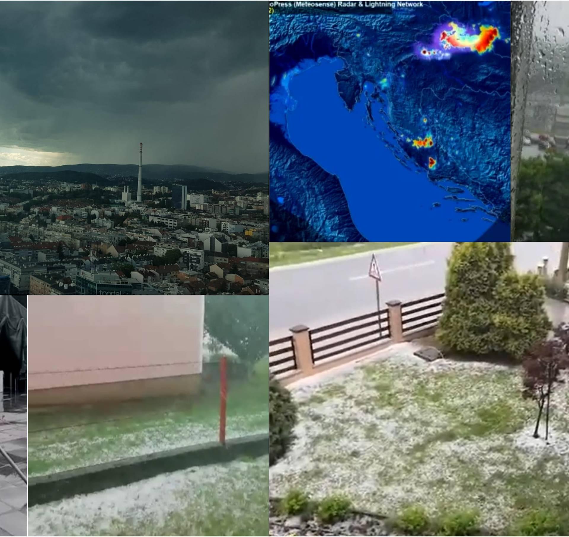 Sjever Hrvatske pogodilo jako olujno nevrijeme: Padala i tuča!