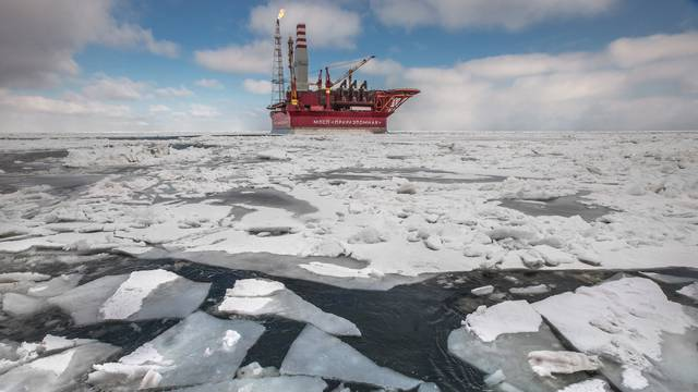 The Prirazlomnaya offshore ice-resistant oil-producing platform