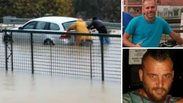 VIDEO Spasili trudnicu koju je voda zatočila u autu: Mislio sam da će je bujica odnijeti na prugu