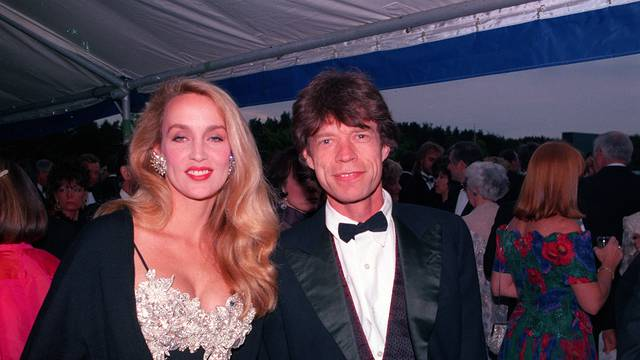 Mick kagger & Jerry Hall