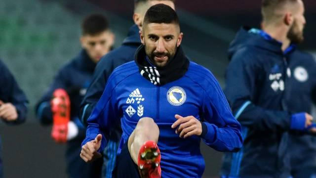 Sarajevo: Trening nogometne reprezentacije BiH uoči prijateljske utakmice s Iranom