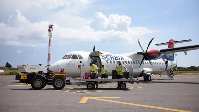 Po prvi puta ove godine u pulsku Zračnu luku sletjela i avio kompanija Air Serbia