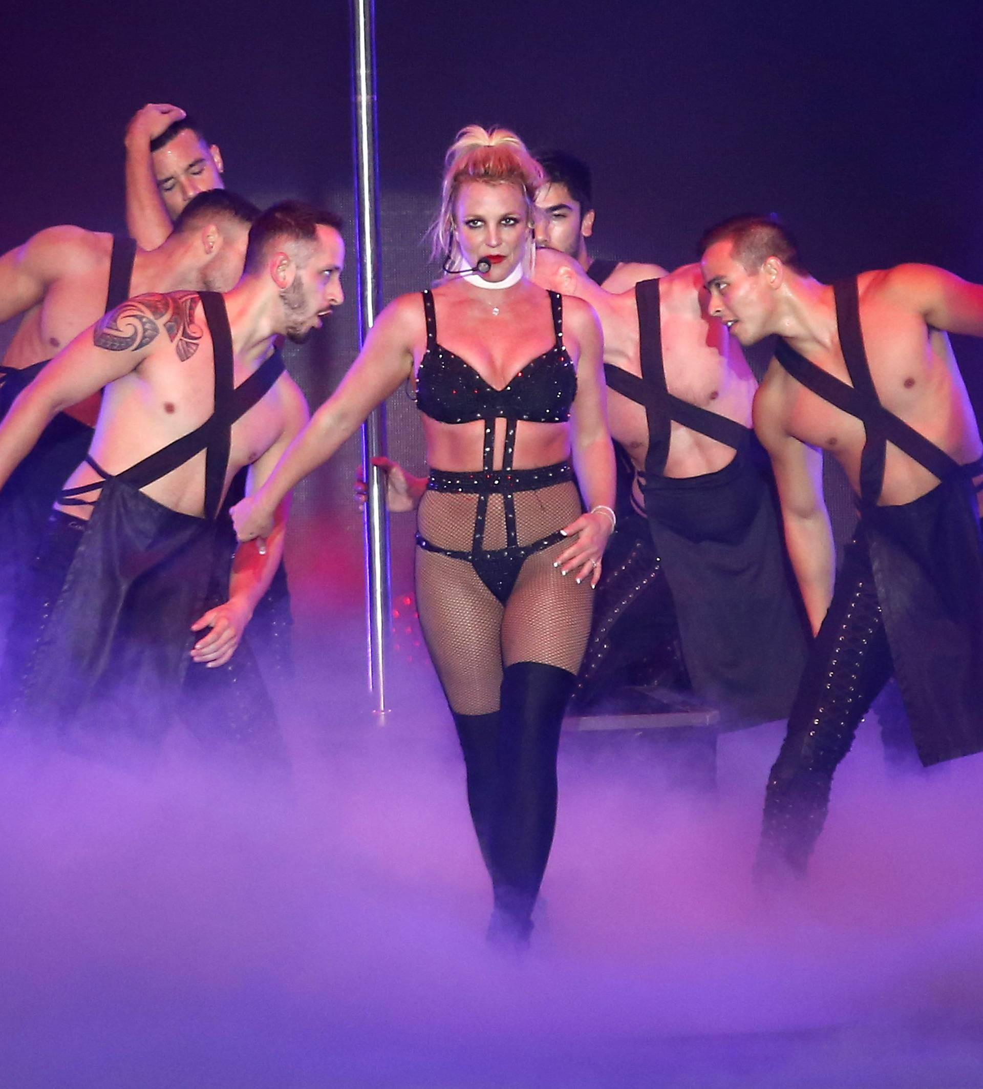 Britney Spears In Concert At Circuit Of America For Formula 1 GP In Austin