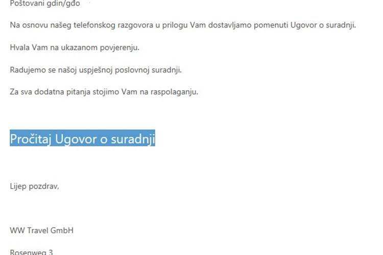 MUP upozorava: Ne nasjedajte na ove sumnjive e-mailove...