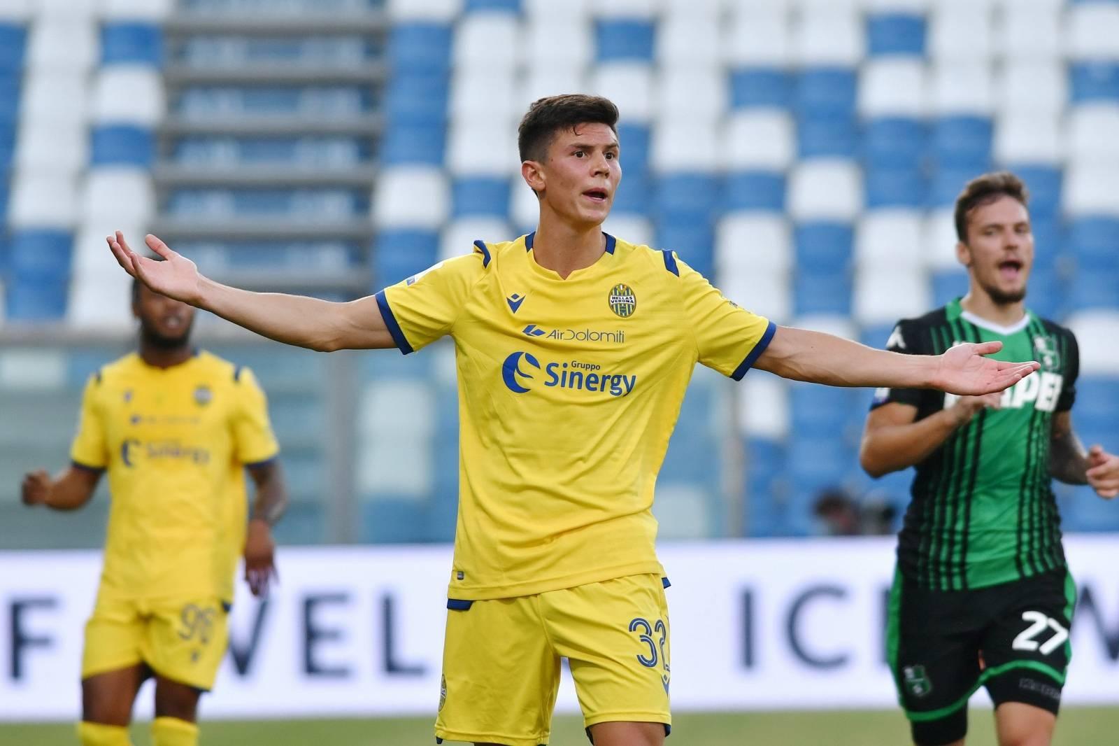 italian Serie A soccer match Sassuolo vs Hellas Verona