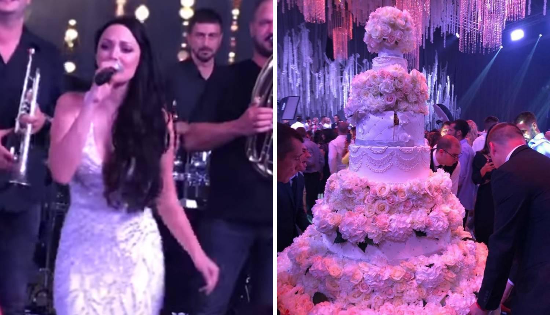Mladenci su imali tortu od 10 katova, a zapjevala im je Brena