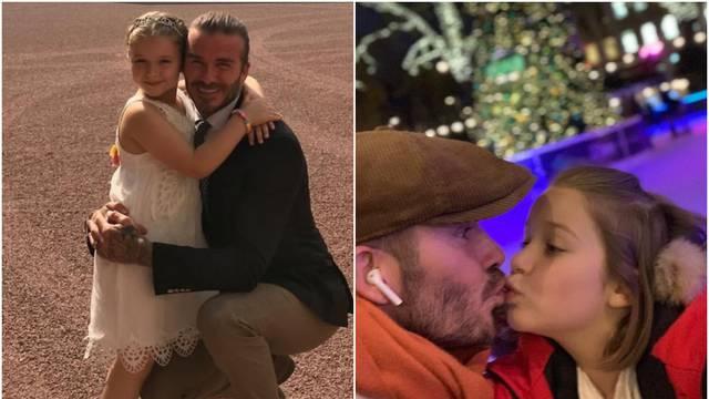 Dobio lavinu uvreda: Beckham ljubi kćerkicu Harper u usta...