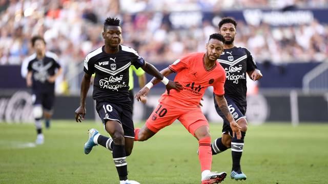 Match de championnat de Ligue 1 Conforama opposant le Football Club des Girondins de Bordeaux au Paris Saint-Germain (PSG) au stade  Matmut Atlantique à Bordeaux