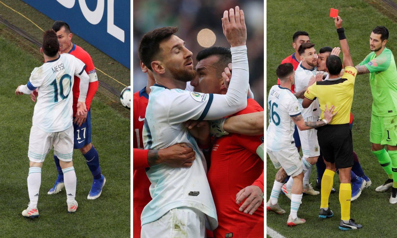Leo na hlađenju: Messi u svađi s kapetanom Čilea dobio crveni