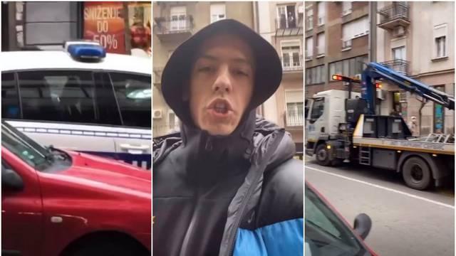Baku Prase privela policija u centru Beograda: Sve je snimio