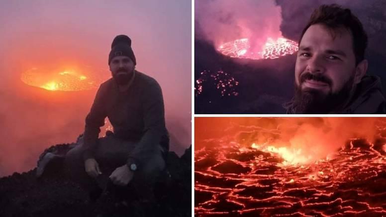'Par sati prije erupcije bio sam na vrhu vulkana. Avionom sam napustio Kongo u zadnji čas'