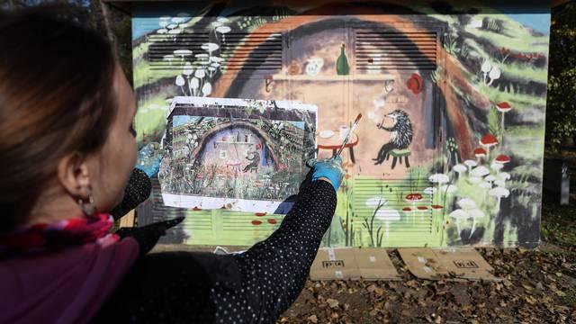 Ježeva kućica na Bundeku: Mural koji će uveseljavati sve