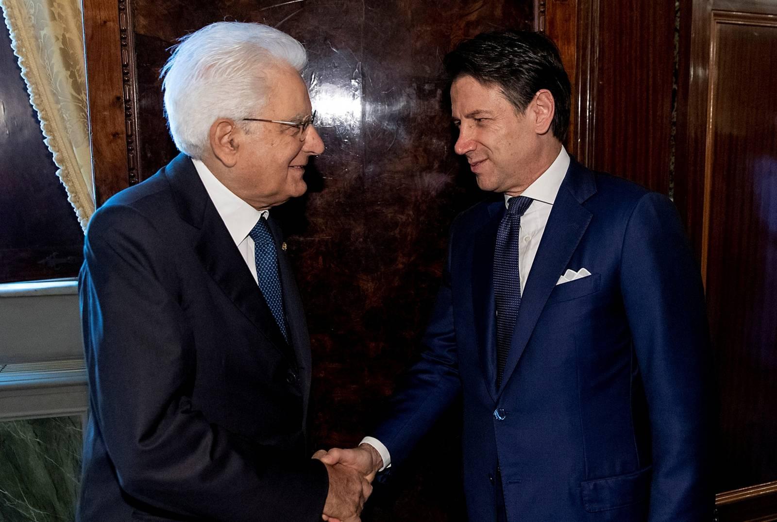 Italy's President Sergio Mattarella meets Prime Minister Giuseppe Conte in Rome