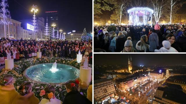 Počeo Advent u Zagrebu: Prva svijeća svijetli na glavnom trgu