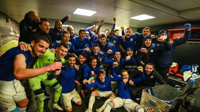 Rotterdam: Dinamo u svlačionici proslavio pobjedu i prolazak u 16-inu finala Europske lige