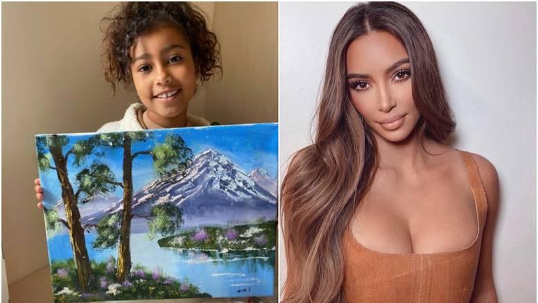 Kim tvrdi da je njezina kći ovo naslikala, svi je sprdaju da laže