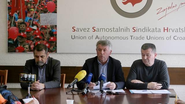 Zagreb: Konferencija za medije Sindikata prometa i veza Hrvatske