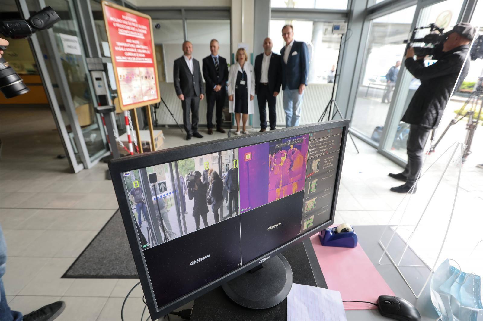 Zagreb: U KBC Zagreb postavljene termalne kamere za detektiranje temperature
