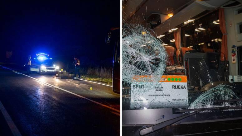 Autobusom kod Gospića naletio na krdo konja i jednog usmrtio