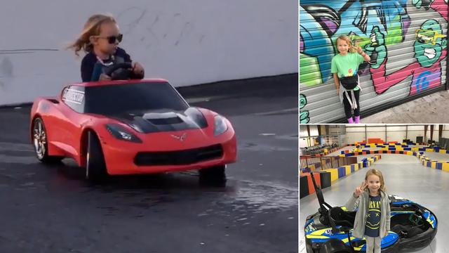 Malena drift senzacija: Lila (7) je naučila voziti, a onda pričati