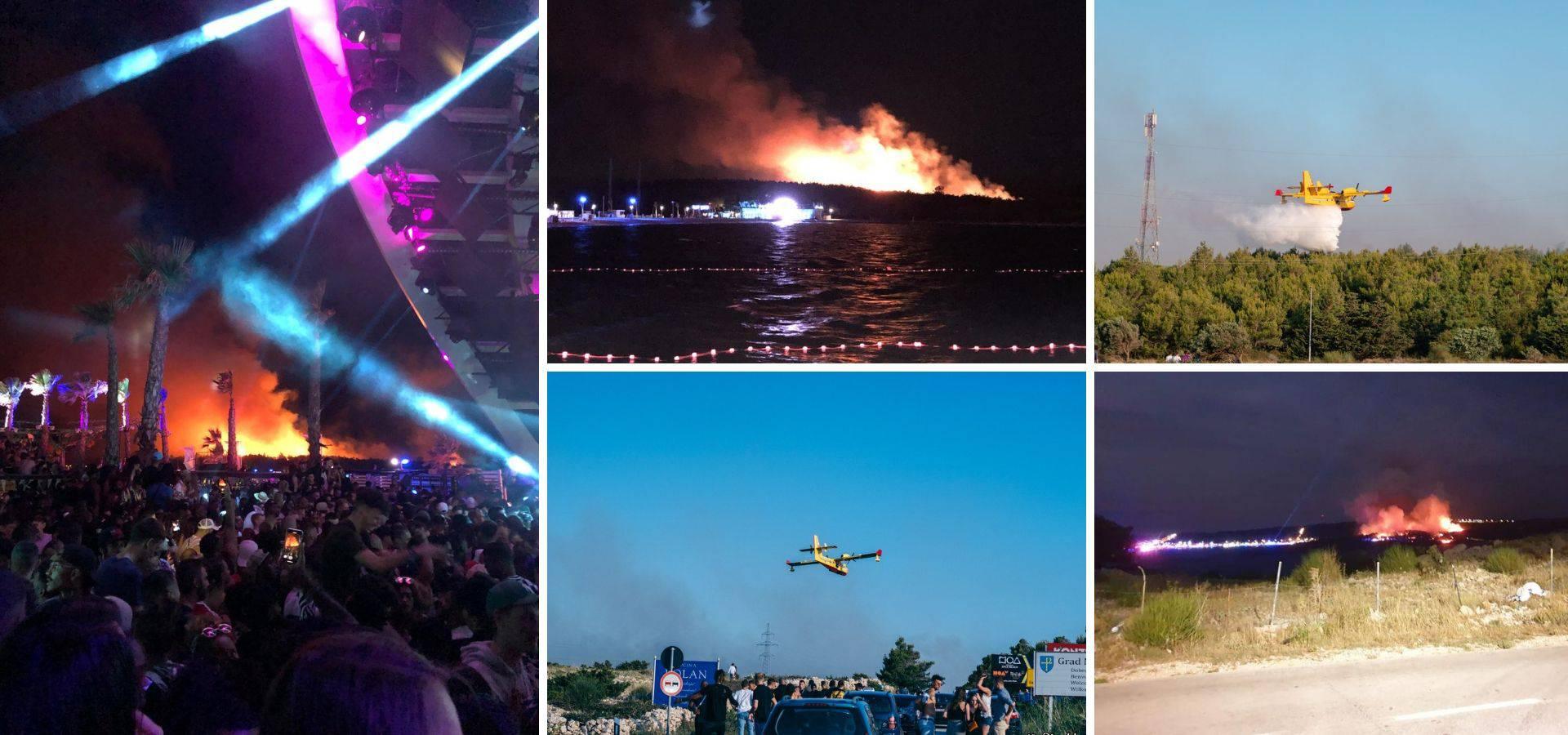 Buktinja na Zrću: Gorjelo cijelu noć, evakuirali su 10.000 ljudi
