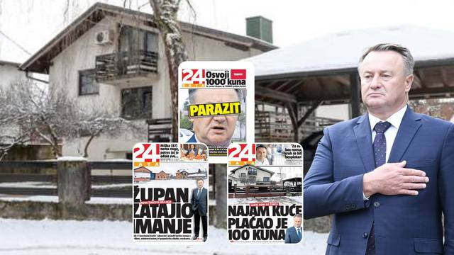 Kuća u kojoj župan Žinić živi plaćena je 291.000 kuna, a on godinama tvrdi da vrijedi manje