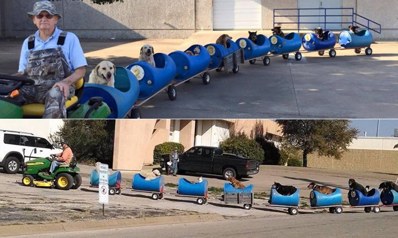 Vozi vlakić za udomljene pse: 'Kada palim motor, svi dojure'